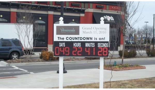 TIME002 - Custom Time and Temp LED Sign for Property Management